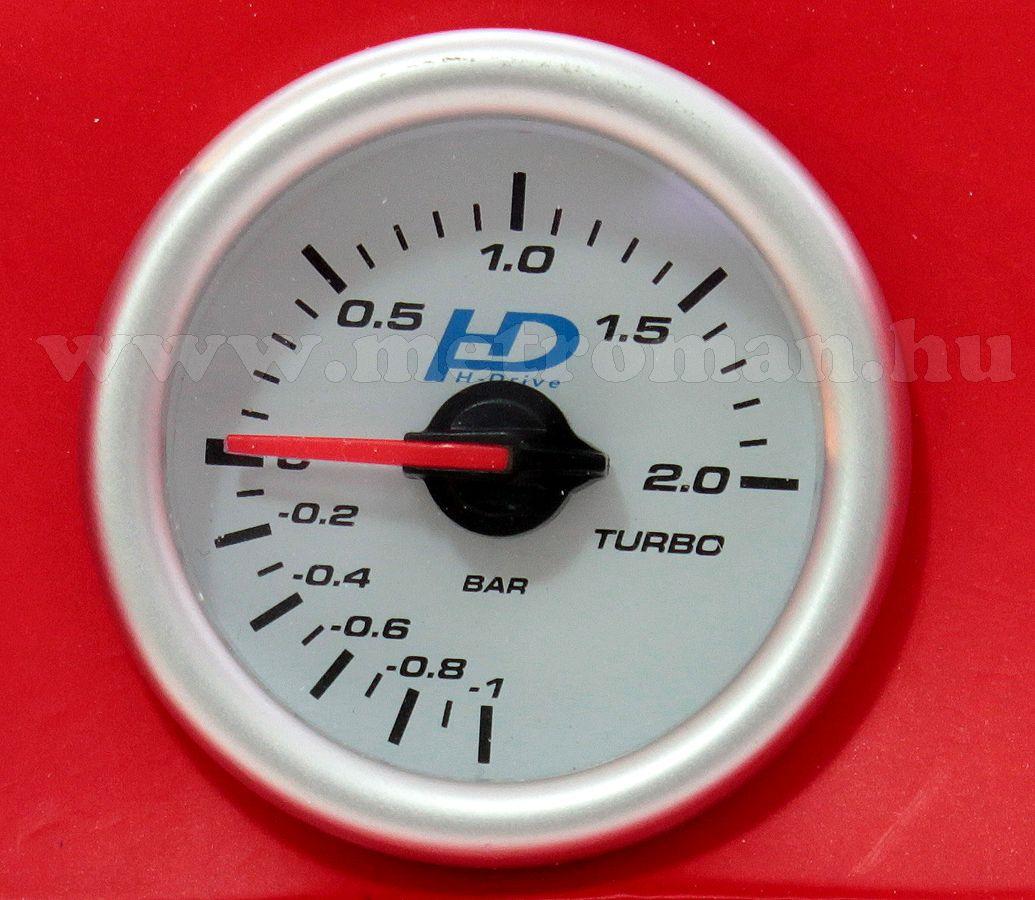Autós sportműszer, turbo nyomás mérő, LED7707