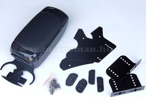 Autós könyöklő, univerzális  kartámasz, 48002BB fekete