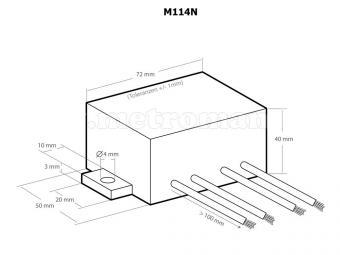 Lámpa villogtató modul, Kemo M114N