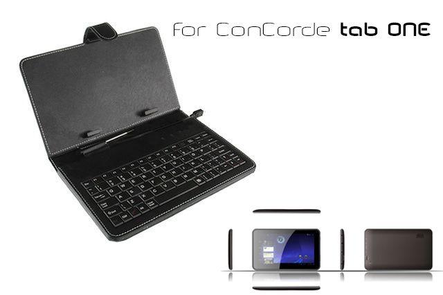 ConCorde billentyűzetes tablet tok, micro USB 7col