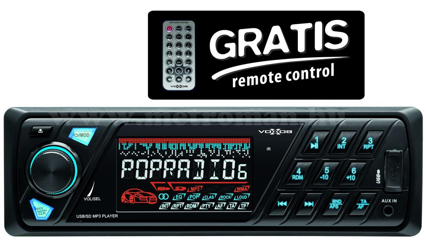 USB / SD MP3 autórádió, VoxBox VB 6000