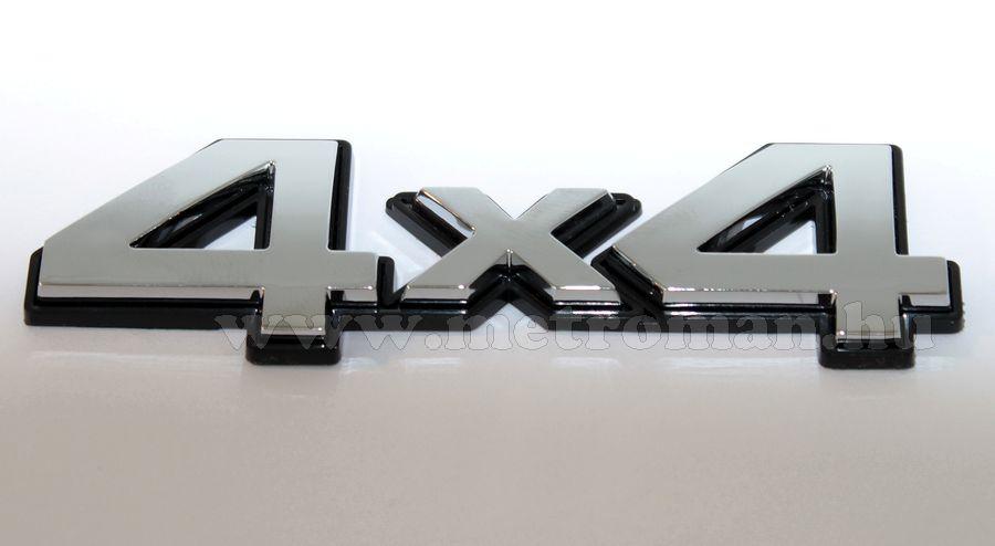 Autó 4X4, 3D matrica, Fekete-Króm színben