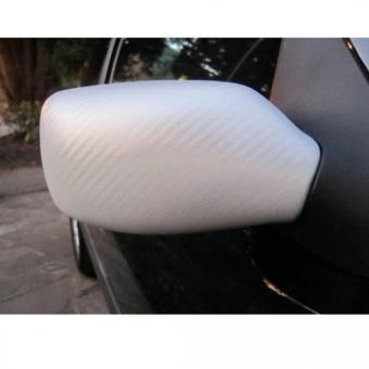 Autó fólia, Karbon fólia , 1,52 méter széles, Fehér CARBON3-White