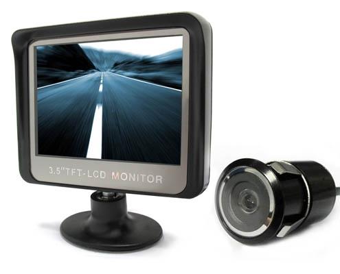 """Vezeték nélküli tolatókamera 3,5""""-os LCD monitorral, SB-501"""