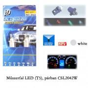Autó műszerfal LED izzó, T5 CSL2042W
