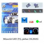 Autó műszerfal LED izzó, Zöld, T5 CSL2042G