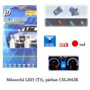 Autó műszerfal LED izzó, Piros, T5 CSL2042R
