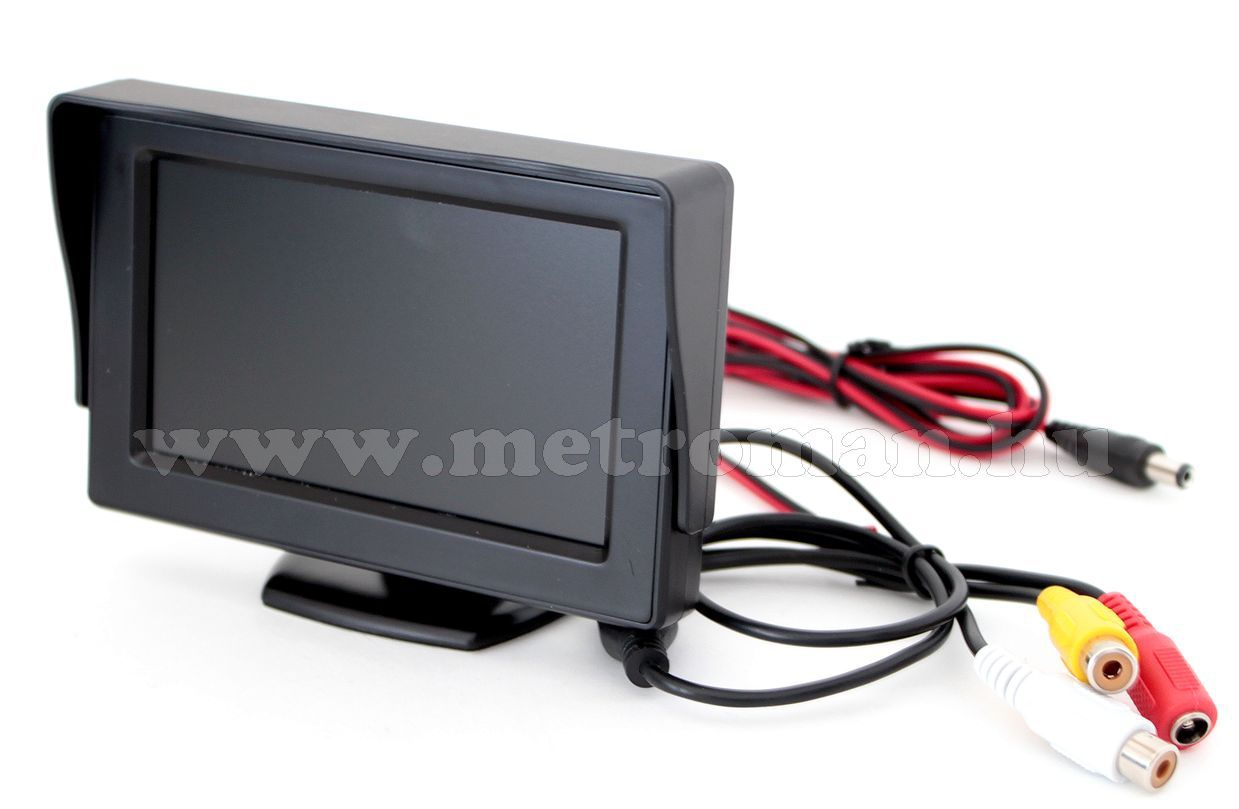 "Tolatókamera szett 4,3""-os LCD monitorral, CLM-0105-MM0227"