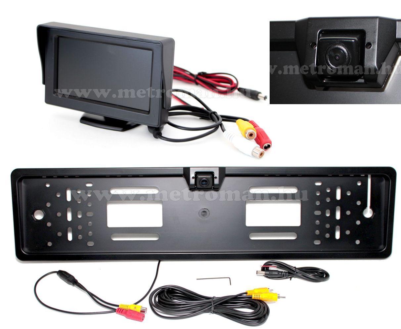 "Tolatókamera szett 4,3""-os LCD monitorral, CLM-0105-CAM-11"
