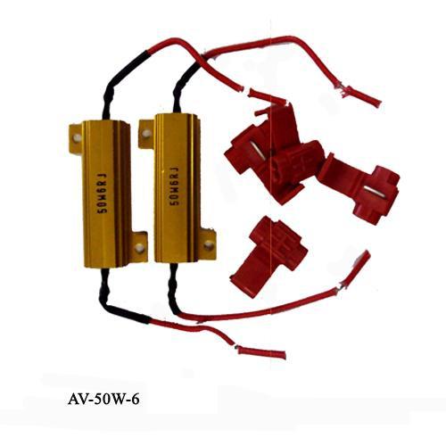 Ellenállás, műterhelés LED izzókhoz, 50 watt, AV-50W-6