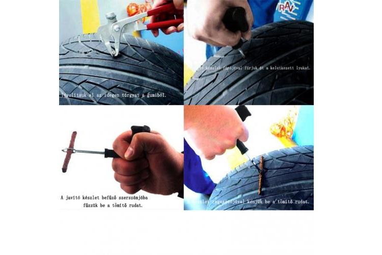 Autó gumi defekt javító készlet