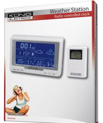 Vezeték nélküli időjárás állomás König KN-WS500