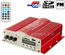 Autós MP3 erősítő, USB/SD/AUX bemenettel és FM rádióval Mlogic MA-200