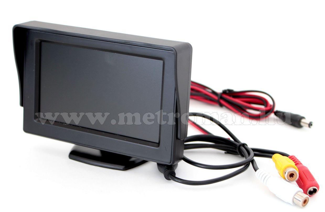 """Tolatókamera szett 4,3""""-os LCD monitorral, CLM-0105-CAPS0251"""