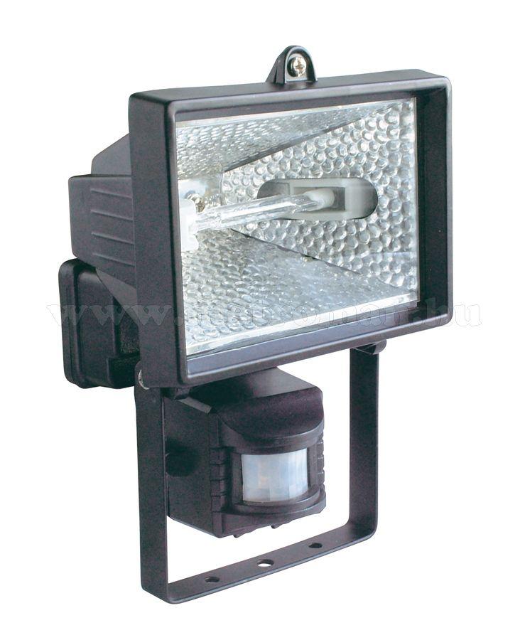 Mozgásérzékelős halogén reflektor FLP 150/BK