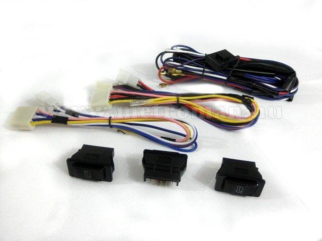Univerzális elektromos ablakemelő szett, 2 ablakhoz, 2+1-es kapcsolószettel