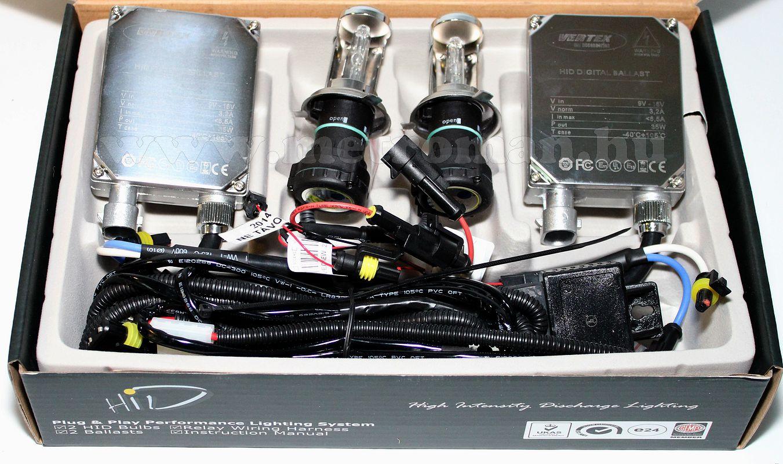 Xenon szett, Vertex H4 Bi-Xenon, 6000 K