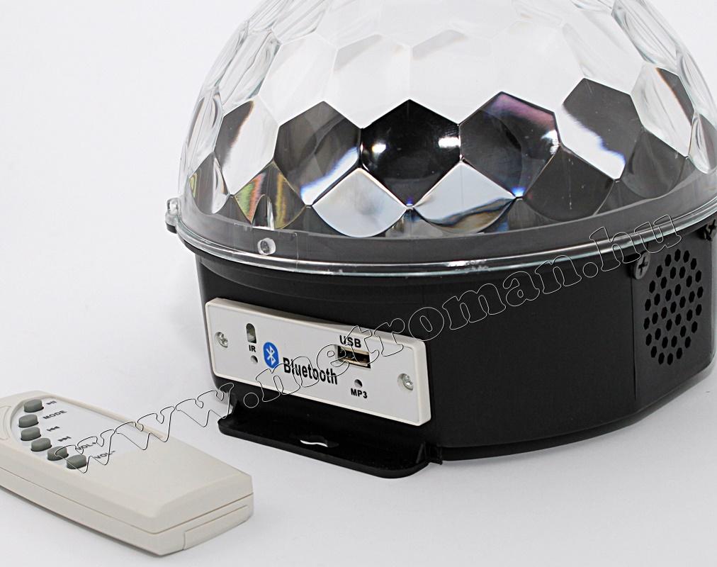 RGB LED Magic diszkó gömb és USB Bluetooth MP3 lejátszó MS39 BT