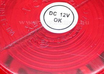 Megkülönböztető jelzés , villogó piros, Stroboszkópos 12V WL01R