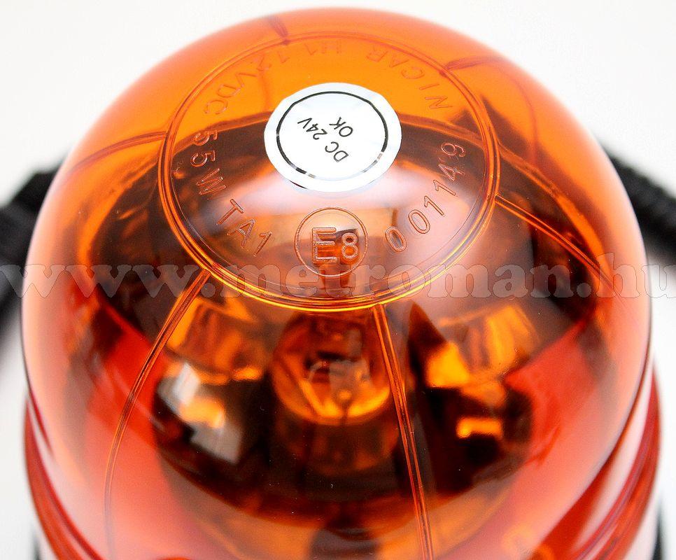 Megkülönböztető jelzés , villogó narancs 24V , H1 55 Watt, MM-7069