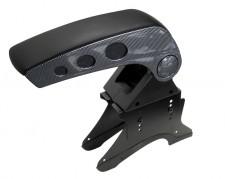 Autós könyöklő, univerzális  kartámasz, MM-8235 Carbon-Fekete