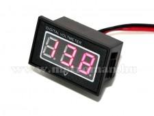 Digitális  feszültségmérő, vízálló, 3-30 Volt DC, Mlogic DC277R