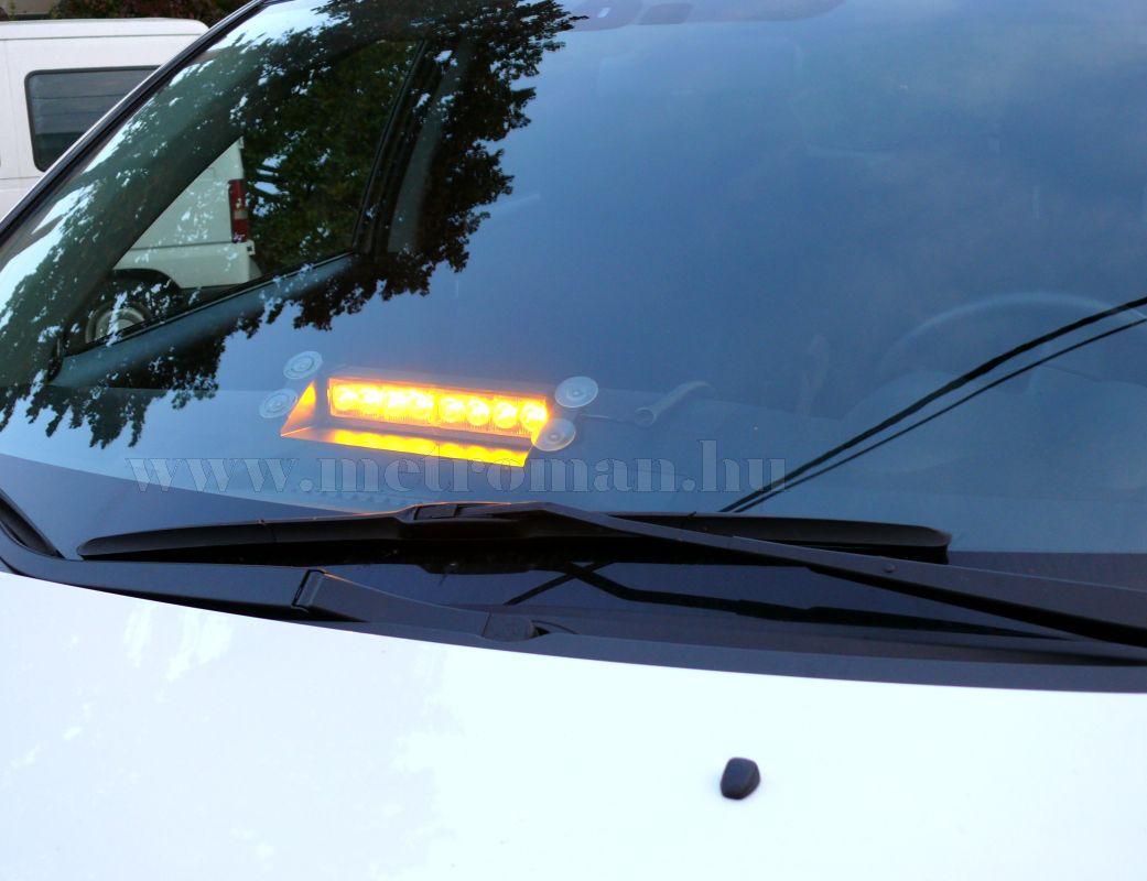 Autós Sárga stroboszkóp LED villogó szélvédőre, Mlogic MM-132A