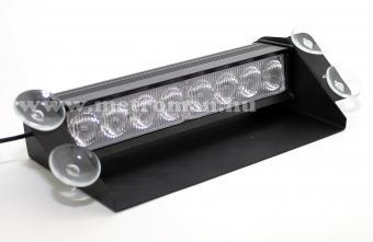 Autós Fehér stroboszkóp LED villogó szélvédőre, Mlogic MM-132W