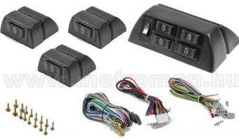 Univerzális elektromos ablakemelő szett, 4 ablakhoz, 4+3x1-es kapcsolószettel SPY002