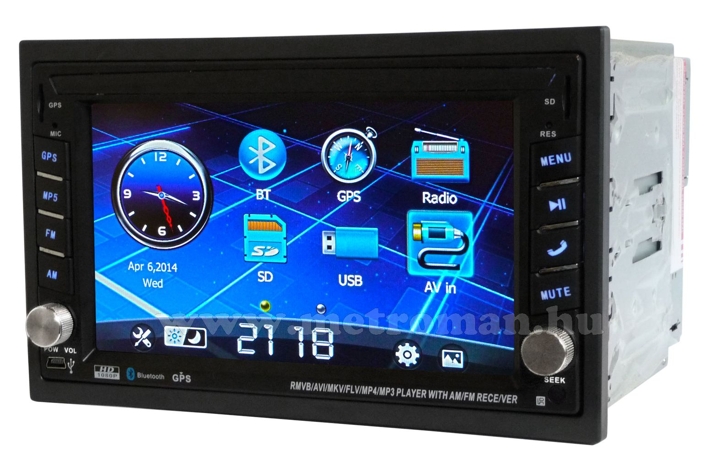 """USB/SD MP3 Navigációs multimédia autórádió, 6,2"""" LCD-vel, JVJ 7802 MP-5"""