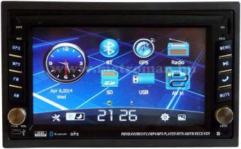 USB/SD MP3 Navigációs multimédia autórádió, 6,2