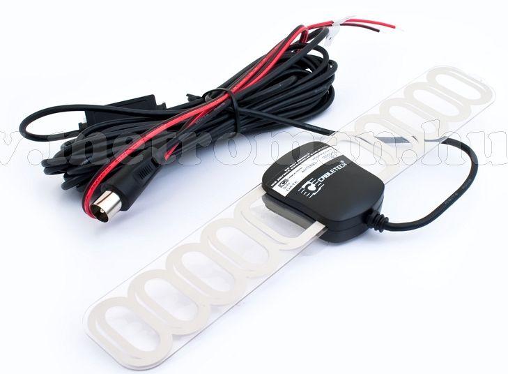 Autó TV antenna, szélvédőre ragasztható,  Cabletech 0525