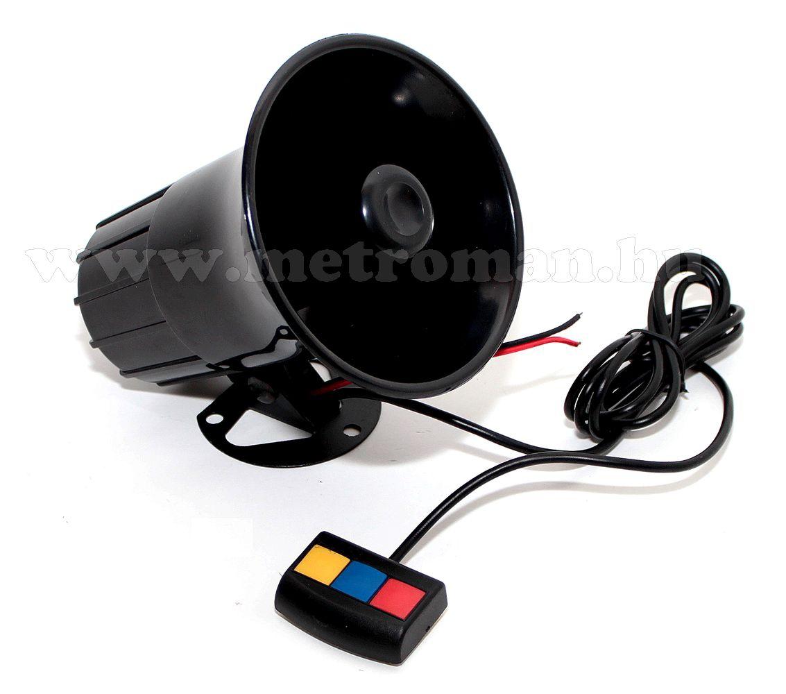 Elektronikus 3 hangú sziréna, 40 W, ES05