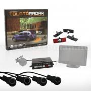 Besüllyeszthető szenzoros tolatóradar, tolatókamera és LCD monitor csatlakozóval, GE-9950-BLACK