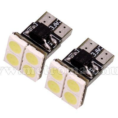 Autós CAN-BUS LED izzó pár, 4 db szuperfényes SMD LED-del, MM-0342