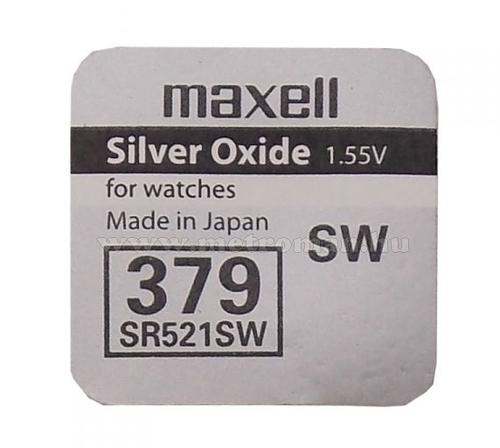 Gombelem Maxell SR521SW ezüst-oxid