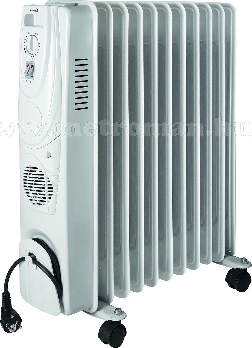 Elektromos olajradiátor, ventilátoros fűtéssel,  HOME FKO 11T