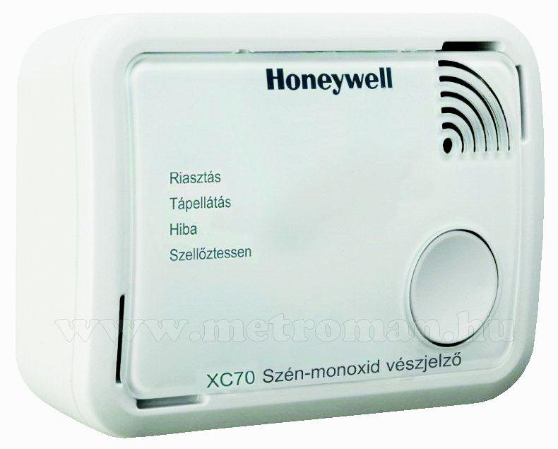Szénmonoxid CO riasztó, jelző készülék Honeywell XC70