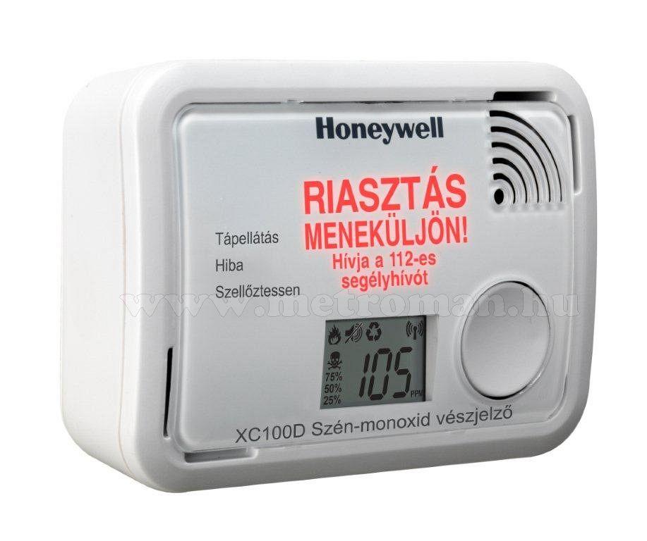 Szénmonoxid CO riasztó, jelző készülék Honeywell XC100D LCD