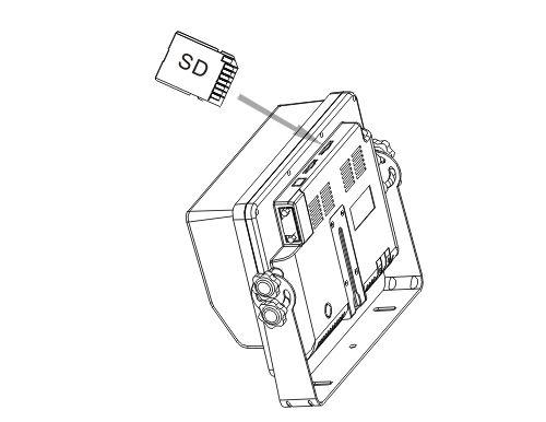 "Ipari kivitelű 9""-os QUAD LCD monitor, beépített SD kártyás DVR video felvevővel, Sharp Vision MO-900141D"