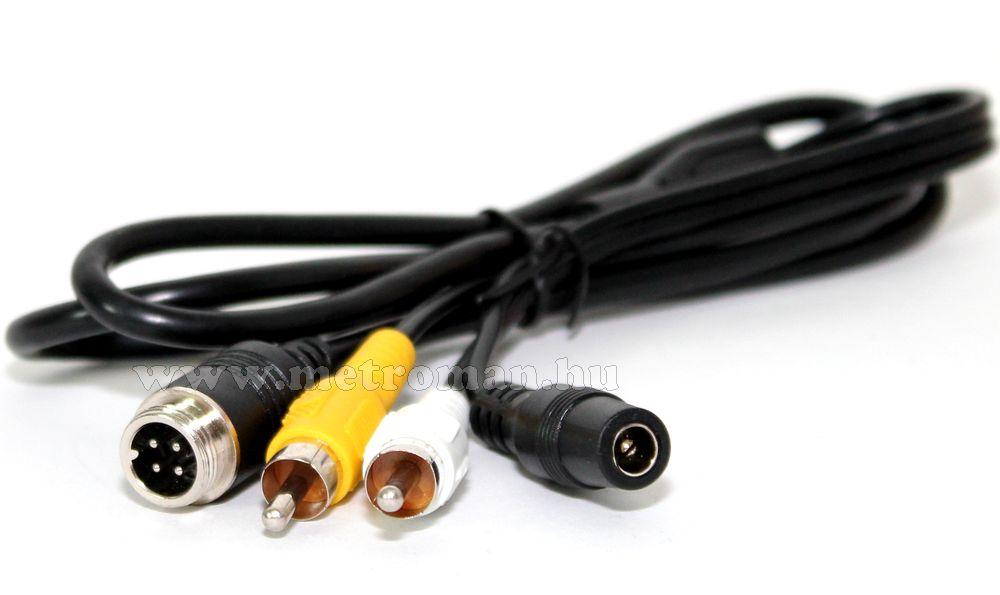 Átalakító adapter, tolatókamera kábelhez,  4PIN TO RCA