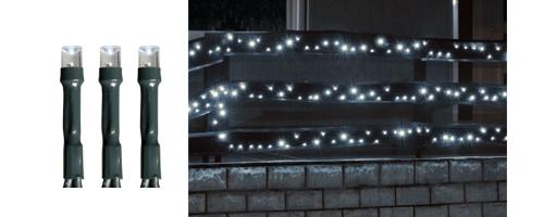 Karácsonyi kültéri LED égősor, Fényfüzér,  KKL 500/WH Hideg fehér