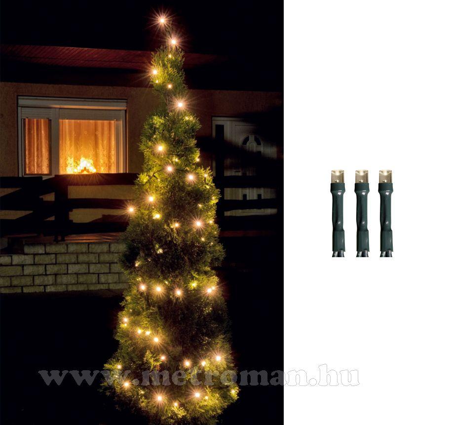 Karácsonyi kültéri LED égősor, Fényfüzér,  LED 108/WW Meleg fehér