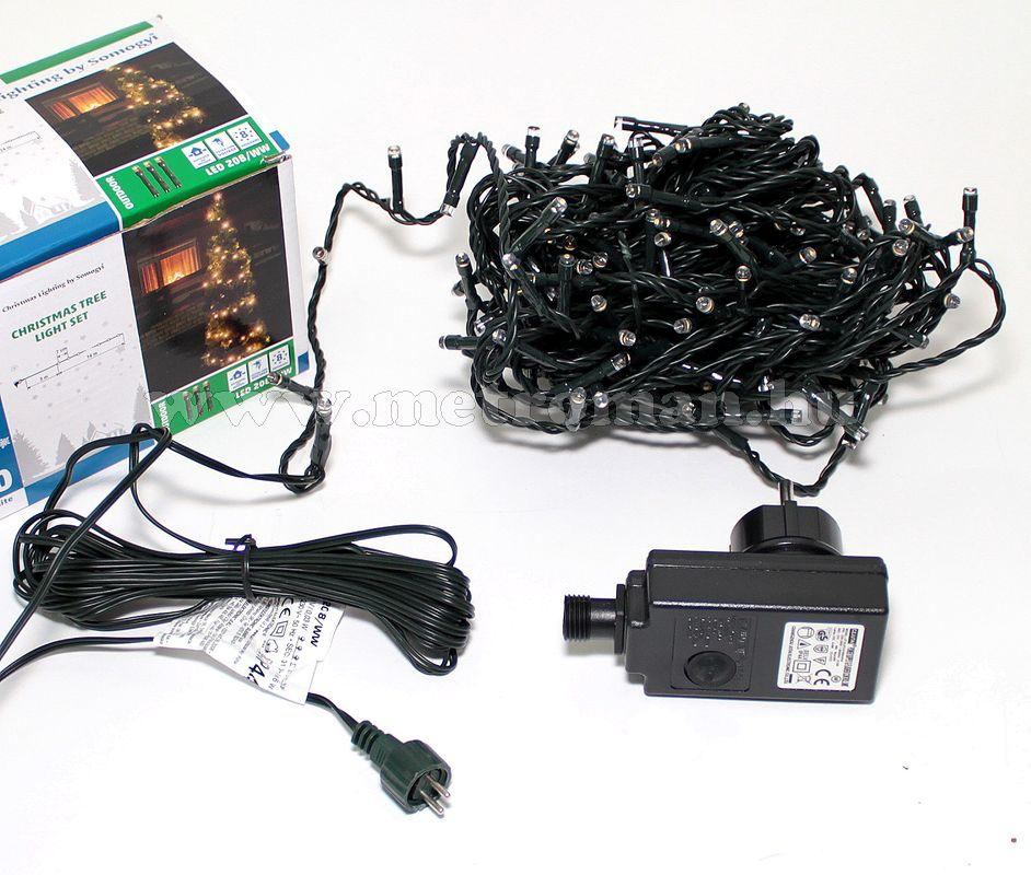 Karácsonyi kültéri LED égősor, Fényfüzér,  LED 208/M Színes