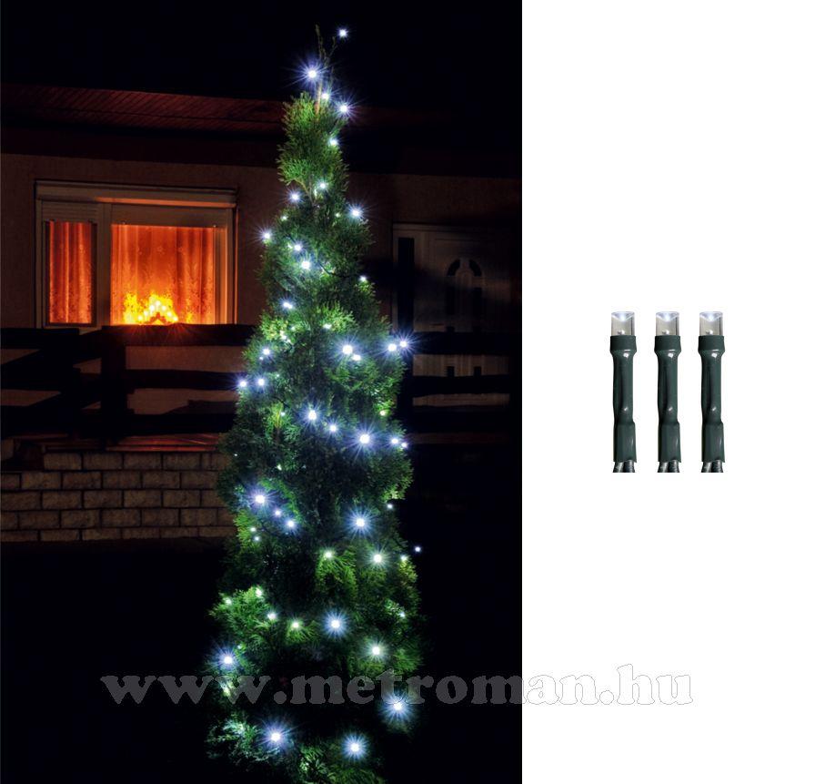 Karácsonyi kültéri LED égősor, Fényfüzér,  LED 208/WH Hideg fehér