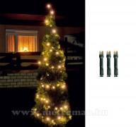 Karácsonyi kültéri LED égősor, Fényfüzér,  LED 208/WW Meleg fehér