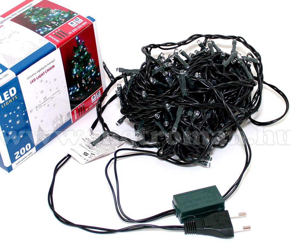 Karácsonyi LED égősor, Fényfüzér, KI 200LED/BL Kék