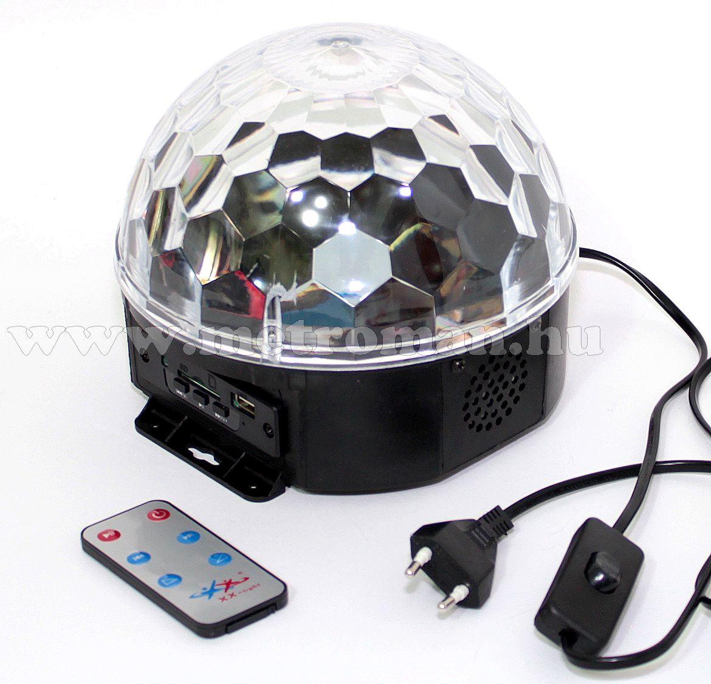 RGB LED Magic diszkó gömb és USB/SD MP3 lejátszó DL 6L