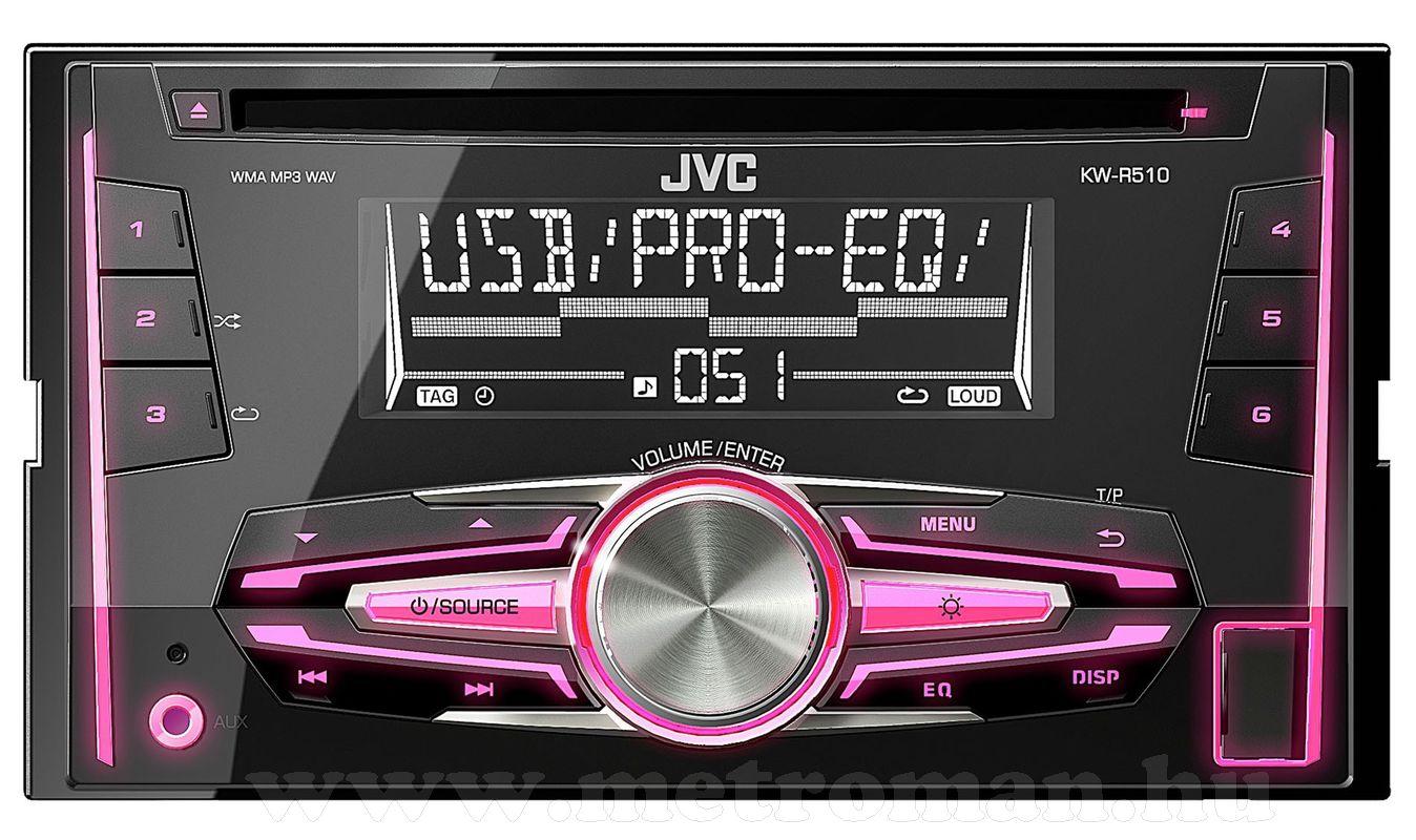 CD MP3 USB 2 DIN autórádió JVC KW-R510