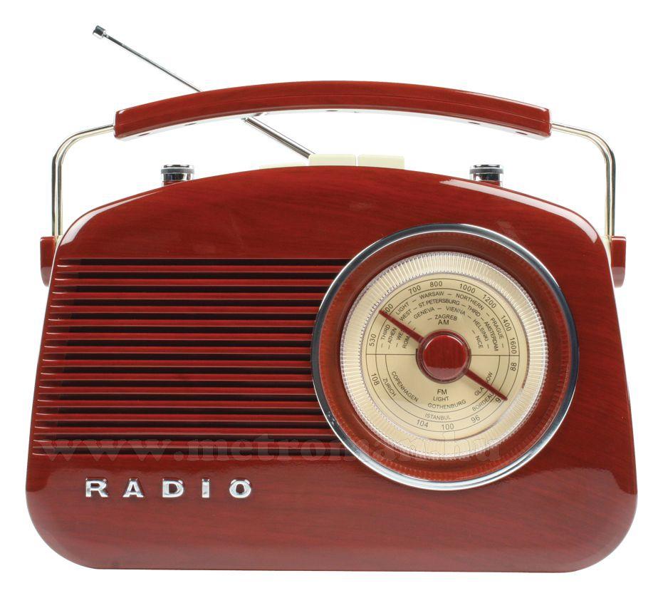 Retró rádió, barna - famintájú, König HAV-TR710BR
